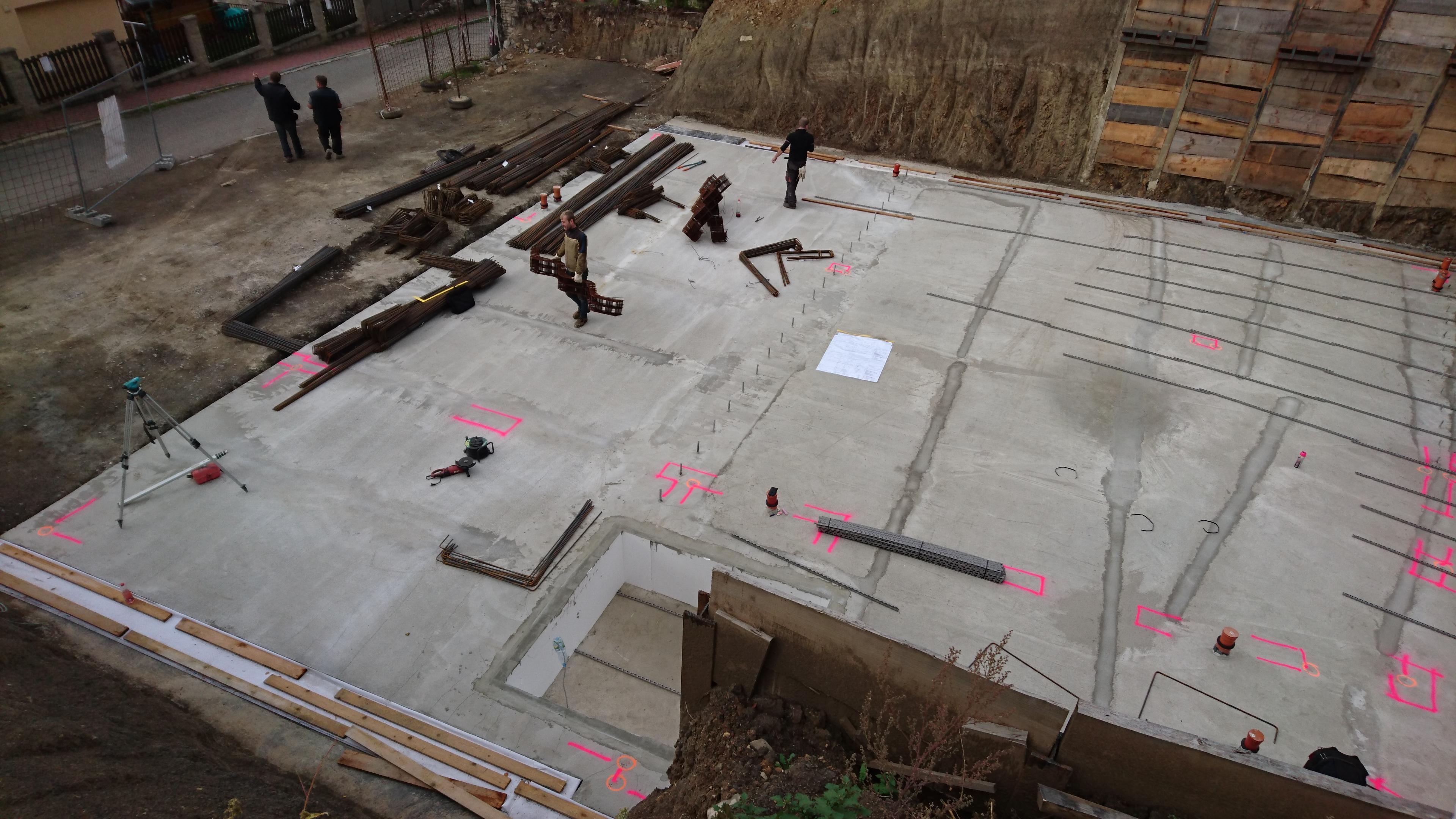 Vila Velká Chuchle, výstavba říjen 2017 až 2018