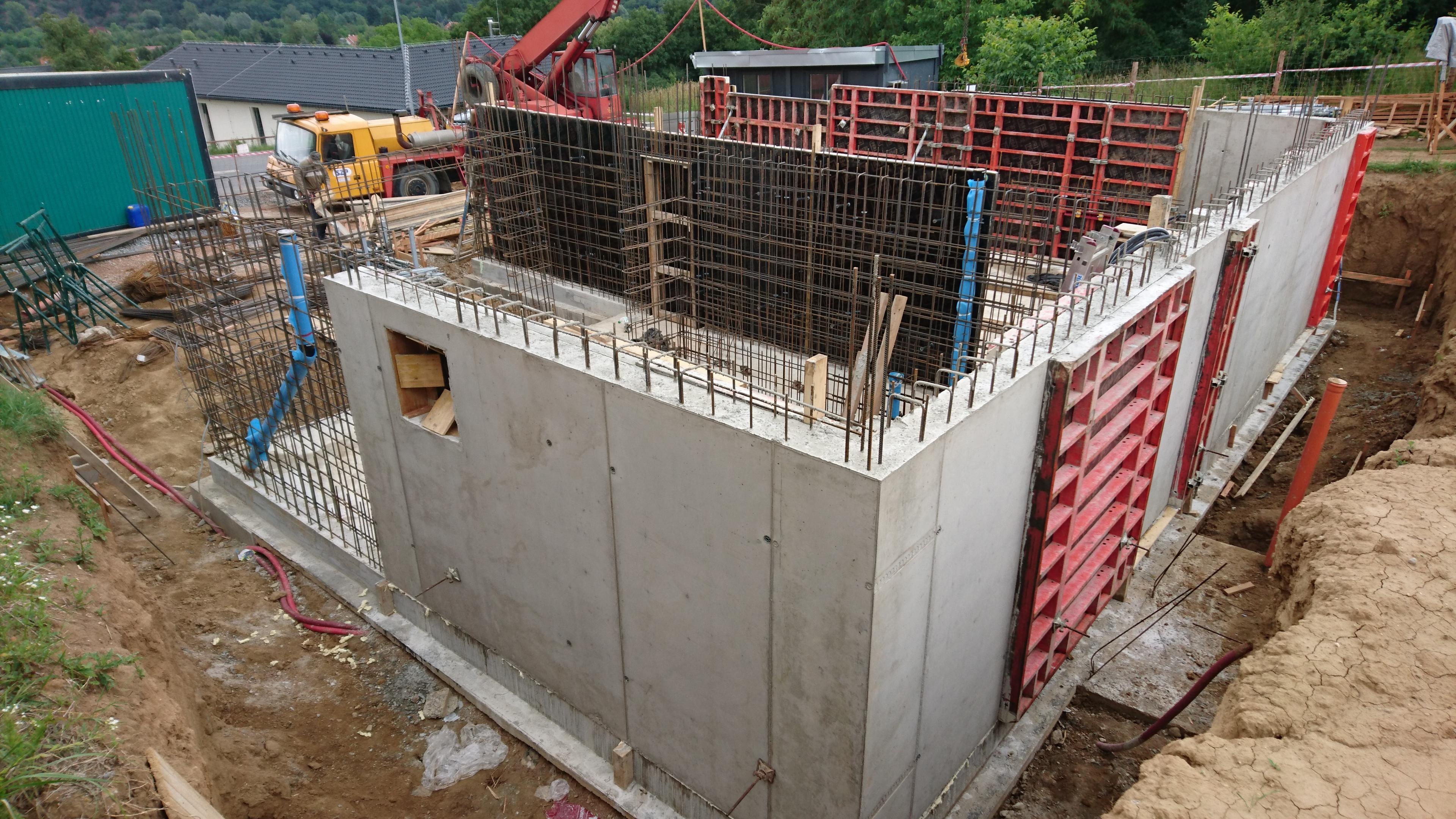 Rodinné domy Černošice výstavba  rok 2018